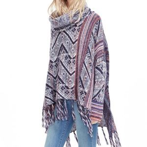 Free People Be the One Poncho Sweater